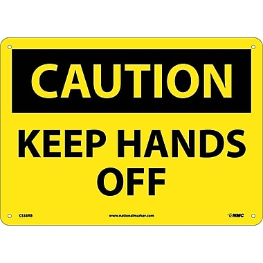 Caution, Keep Hands Off, 10X14, Rigid Plastic
