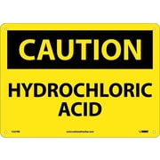 Caution, Hydrochloric Acid, 10X14, Rigid Plastic