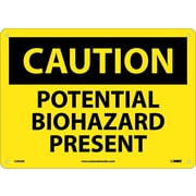 Caution, Potential Biohazard Present, 10X14, .040 Aluminum