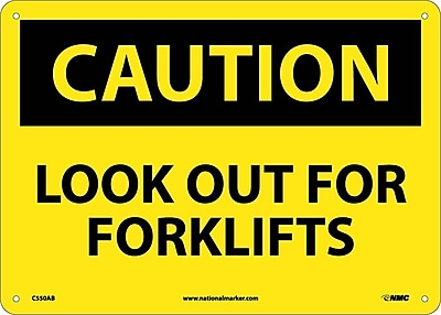 Caution, Look Out For Forklifts, 10X14, .040 Aluminum