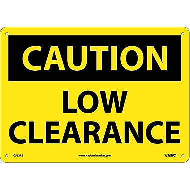 Caution, Low Clearance, 10