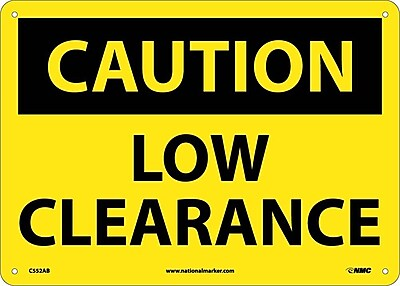 Caution, Low Clearance, 10X14, .040 Aluminum