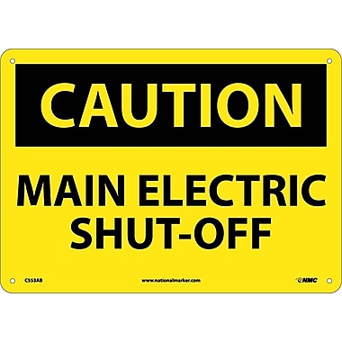 Caution, Main Electric Shut-Off, 10