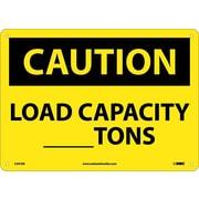 Caution, Load Capacity__Tons, 10X14, .040 Aluminum