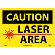 Caution, Laser Area, Graphic, 10X14, .040 Aluminum