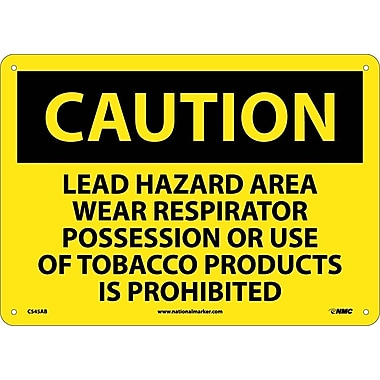 Caution, Lead Hazard Area Wear Respirator Possession Or Use Of Tobacco Products Is Prohibited