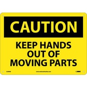 Caution, Keep Hands Out Of Moving Parts, 10X14, .040 Aluminum