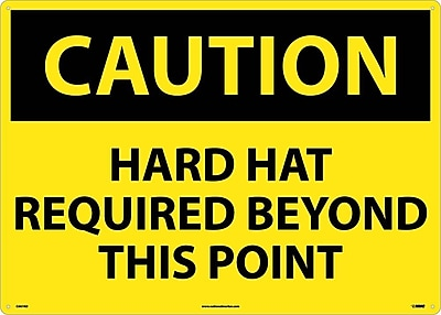 Caution, Hard Hat Required Beyond This Point, 20X28, .040 Aluminum