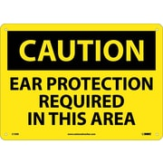Caution, Ear Protection Required In This Area, 10X14, Fiberglass