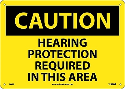 Caution, Hearing Protection Required In This Area, 10X14, Fiberglass