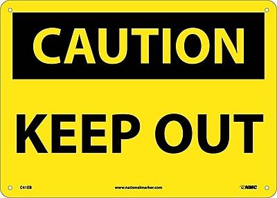 Caution, Keep Out, 10X14, Fiberglass