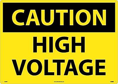 Caution, High Voltage, 20X28, Rigid Plastic