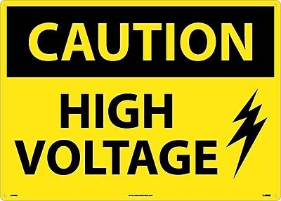 Caution, High Voltage, Graphic, 20X28, Rigid Plastic