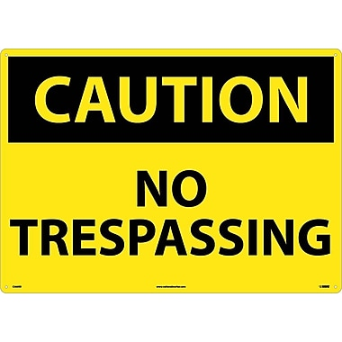 Caution, No Trespassing, 20