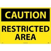 Caution, Restricted Area, 20X28, Rigid Plastic