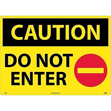 Caution, Do Not Enter, Graphic, 20X28, Rigid Plastic