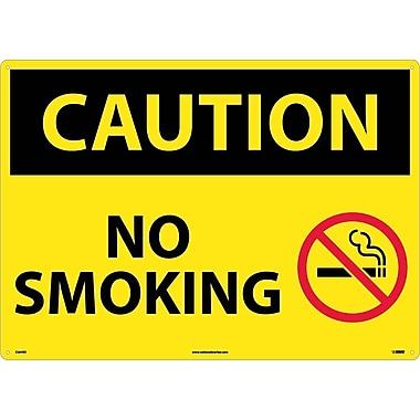 Caution, No Smoking, Graphic, 20X28, Rigid Plastic