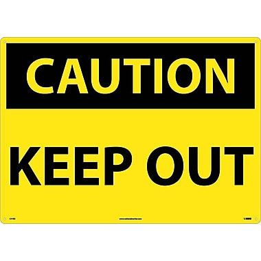 Caution, Keep Out, 20X28, Rigid Plastic