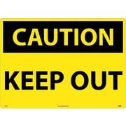 Caution, Keep Out, 20X28, Rigid Plastic