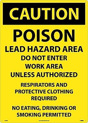 Caution, Poison Lead Hazard Area Do Not Enter Work Area. . ., 20X28, Rigid Plastic