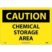 Caution, Chemical Storage Area, 10X14, Fiberglass