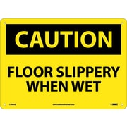 Caution, Floor Slippery When Wet, 10X14, .040 Aluminum