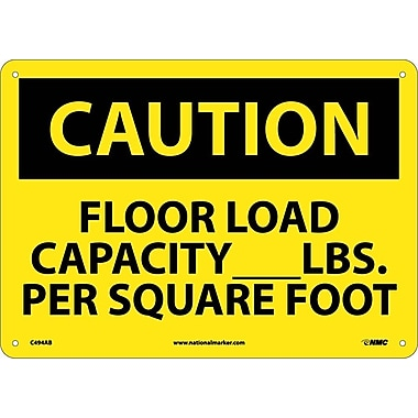 Caution, Floor Load Capacity__Lbs. Per Square Foot, 10