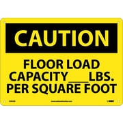 Caution, Floor Load Capacity__Lbs. Per Square Foot, 10X14, .040 Aluminum