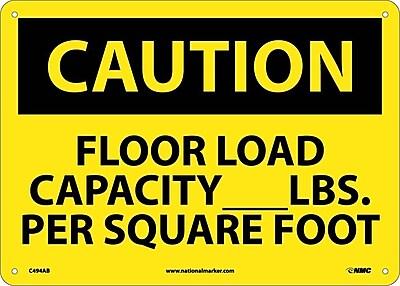 Caution, Floor Load Capacity__Lbs. Per Square Foot, 10X14, .040 Aluminum