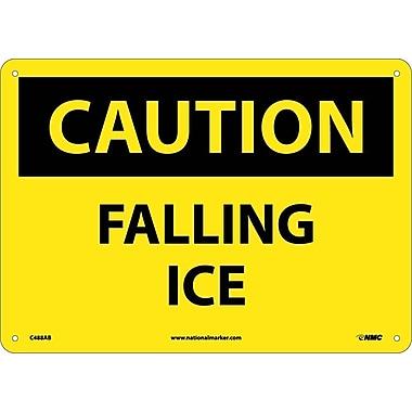 National Marker - Panneau de sécurité Caution, Falling Ice, 10 x 14 po, aluminium 0,04