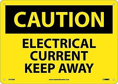 Caution, Electrical Current Keep Away, 10X14, .040 Aluminum