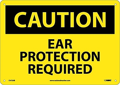 Caution, Ear Protection Required, 10X14, .040 Aluminum