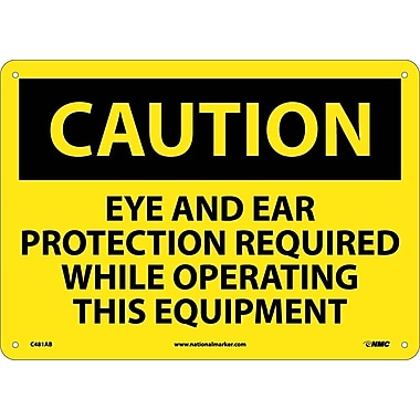 Caution, Eye And Ear Protection Required While Operating This Equipment, 10