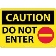 Caution, Do Not Enter, Graphic, 14X20, .040 Aluminum