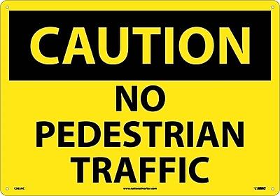 Caution, No Pedestrian Traffic, 14X20, .040 Aluminum