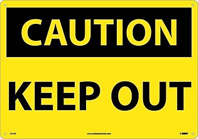Caution Keep Our, 10X14, .040 Aluminum