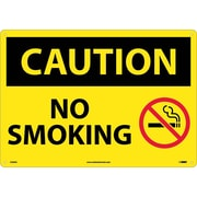 Caution, No Smoking, Graphic, 14X20, .040 Aluminum