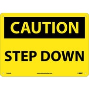 Caution, Step Down, 10X14, .040 Aluminum