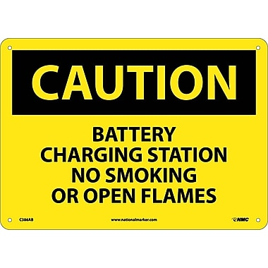 Caution, Battery Charging Station No Smoking. . ., 10X14, .040 Aluminum