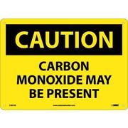 Caution, Carbon Monoxide May Be Present, 10X14, .040 Aluminum