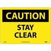 Caution, Stay Clear, 10X14, .040 Aluminum