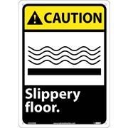 Caution, Slippery Floor, 14X10, .040 Aluminum