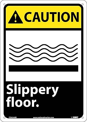 Caution, Slippery Floor, 14X10, .040 Aluminum
