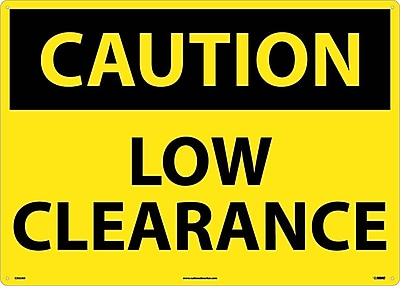 Caution, Low Clearance, 20X28, .040 Aluminum