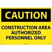 Caution, Construction Area Authorized Personnel Only, 20X28, .040 Aluminum