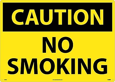 Caution, No Smoking, 20X28, .040 Aluminum