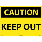 Caution, Keep Out, 20X28, .040 Aluminum