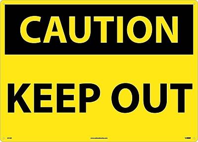 Caution, Keep Out, 20X28, .040 Aluminum