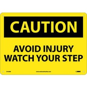 Caution, Avoid Injury Watch Your Step, 10X14, .040 Aluminum