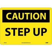 Caution, Step Up, 10X14, .040 Aluminum